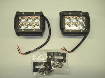 Imagen de PAR FAROS CAMINEROS LED RECTANGULAR 100MM 6 LED 18W 12/24V