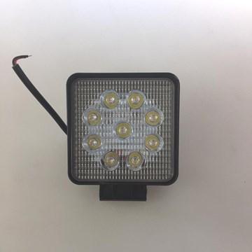 Imagen de FARO CAMINERO AUXILIAR CUADRADO 9 LEDS 27W 12/24V (10X10)