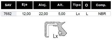 Imagen de RETEN (12X22X5) TRANSMISION MOTOS HONDA