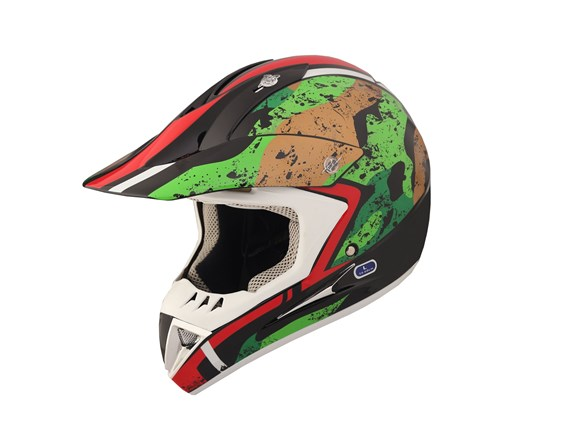 Imagen de CASCO PARA MOTO CROSS INTEGRAL MULTI COLOR RACING