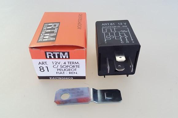 Imagen de FLASHER ELECTRONICO 12V 4 TERMINALES CON SOPORTE