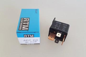 Imagen de MINIRELAY/RELE 12V 4 TERMINALES 70 AMP CON SOPORTE