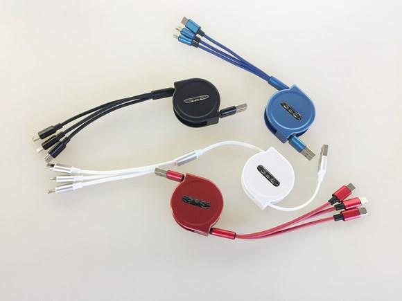 Imagen de CABLE PARA CARGAR 3 CELULARES IPHONE/SAMSUNG/ANDROID/HUAWEI