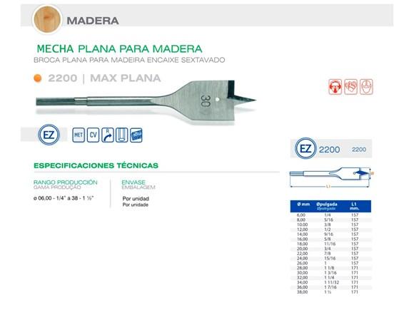 "Imagen de MECHA CARPINTERO PLANA DIAM 38.00 MM - 1 1/2"""