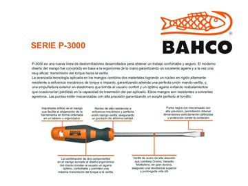 Imagen de DESTORNILLADOR PLANO CONICO BAHCO 8X150MM