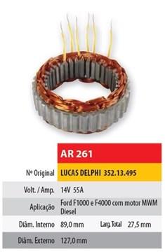 Imagen de ESTATOR 12V 55AMP FORD F1000/4000 MOTOR MWM (89X127,2X27,5)