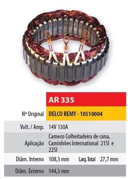 Imagen de ESTATOR 12V 130AMP DELCO REMY 21SI/22SI (108,3X144,3X27,7)