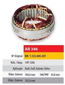 Imagen de ESTATOR 12V 100AMP VOLKSWAGEN POLO/BORA 1.9TD (104X142X34)