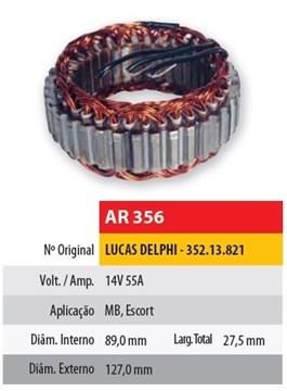 Imagen de ESTATOR 12V 55AMP DELPHI MERCEDES BENZ (89X127X27,5)