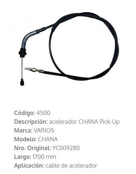 Imagen de CABLE DE ACELERADOR CHANA PICK-UP 1702MM