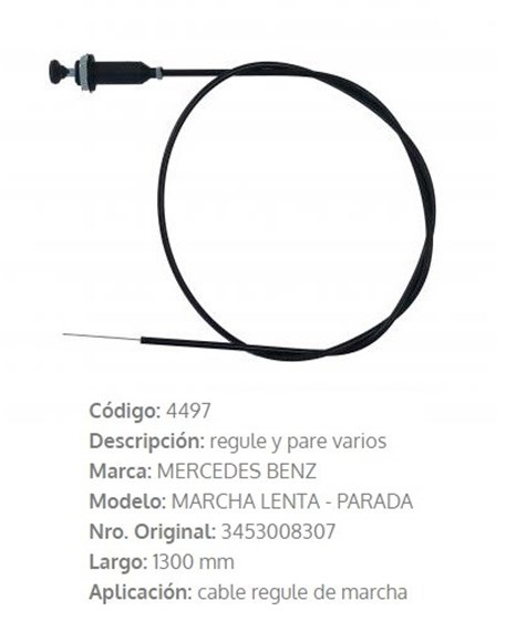 Imagen de CABLE ESTRANGULADOR MERCEDES BENZ CAMION/OMNIBUS 1300MM