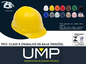 Imagen de CASCO DE SEGURIDAD AMARILLO COMPLETO (C/ARNES Y BARBIJO)