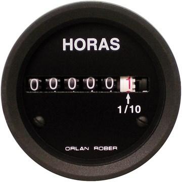 Imagen de CUENTA HORAS ELECTRICO (HORIMETRO) NEGRO 12-24V DIAM: 52MM