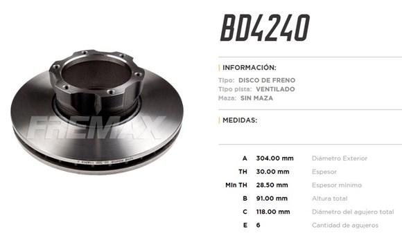 Imagen de DISCO DE FRENO MERCEDES-BENZ L709