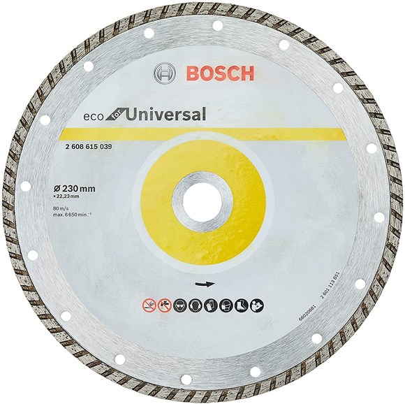 Imagen de DISCO DE CORTE BOSCH DIAMANTADO TURBO UNIVERSAL 230MM