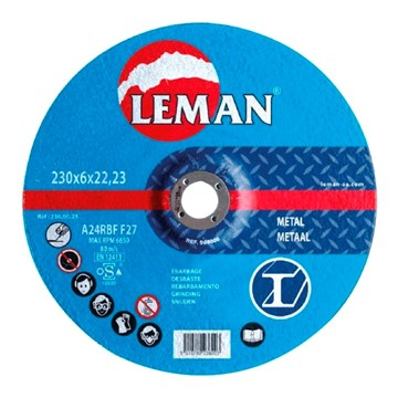 Imagen de DISCO DESBASTE METAL LEMAN 180X6,0X22,23MM