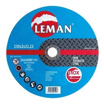 Imagen de DISCO DE CORTE ACERO INOXIDABLE LEMAN 230X2,0X22,23MM