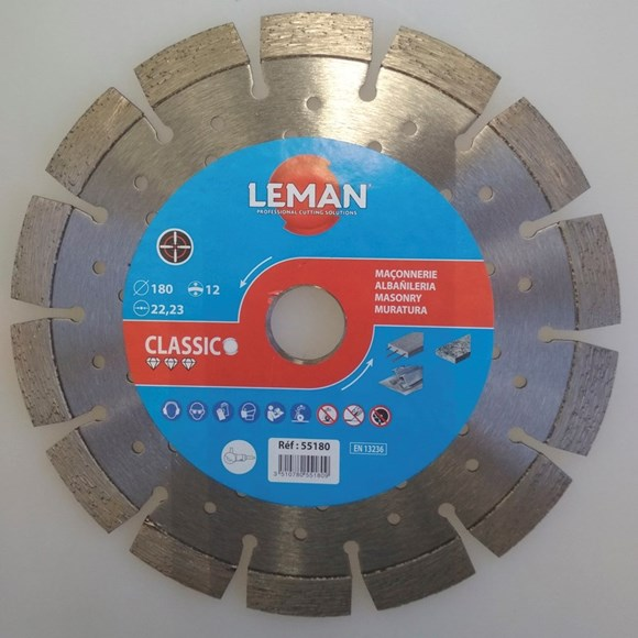 Imagen de DISCO DIAMANTADO SUPER CANTERO LEMAN 180X2,3X12X22,23MM