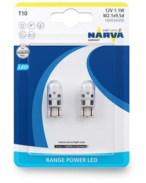 Imagen de JUEGO DE 2 LAMPARAS LED 12V 0,6W W2,1X9,5D RANGE POWER LED