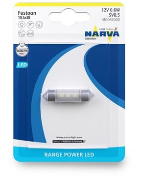 Imagen de LAMPARA LED TUBULAR 12V 0,6W SV8,5 RANGE POWER LED