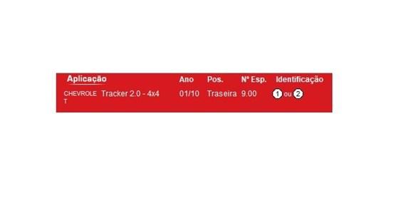 Imagen de RESORTE/ESPIRAL TRASERO CHEVROLET TRACKER 2.0 4X4 2010-