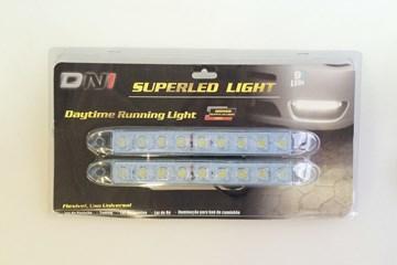 Imagen de PAR DE LUZ LED 9 LEDS 12V (PARA LUZ DE DIA/LUZ TRASERA)